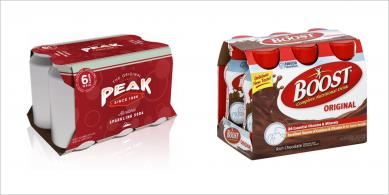 Multipack Yogurt Bottle in Carton Sleeve