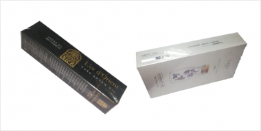 carton box overwrapping cellophane packing